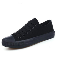 2020 All BLACK Girls Casual Canvas Shoes Breathable Walking