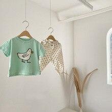 T-Shirt Tops Toddler Baby Cotton Summer Soft Girl New Boy And Cartoon Short Bird Children