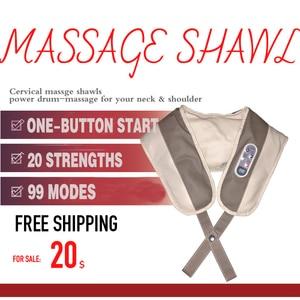 Image 5 - 【Free shipping】Massage Shawl Electrical Massage Shiatsu Back Shoulder Body Neck Massager