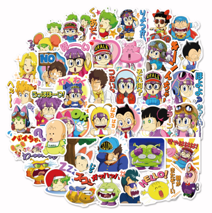 40pcs/bag Arale Cartoon Style Album Scrapbook Waterproof Decoration Stickers DIY Handmade Gift Scrapbooking Sticker