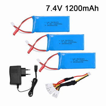 7.4v 1200mAh Lipo Battery For Yizhan Tarantula X6 H16 MJX X101 X102h RC Drone 2S battery and charger for WLtoys V666 V262 V323 image