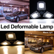 60W Led E27 Garage Light 220V high Intensity Deformable Lamp 80W 100W UFO Bulb E26 Workshop Parking Warehouse Ceiling 110V