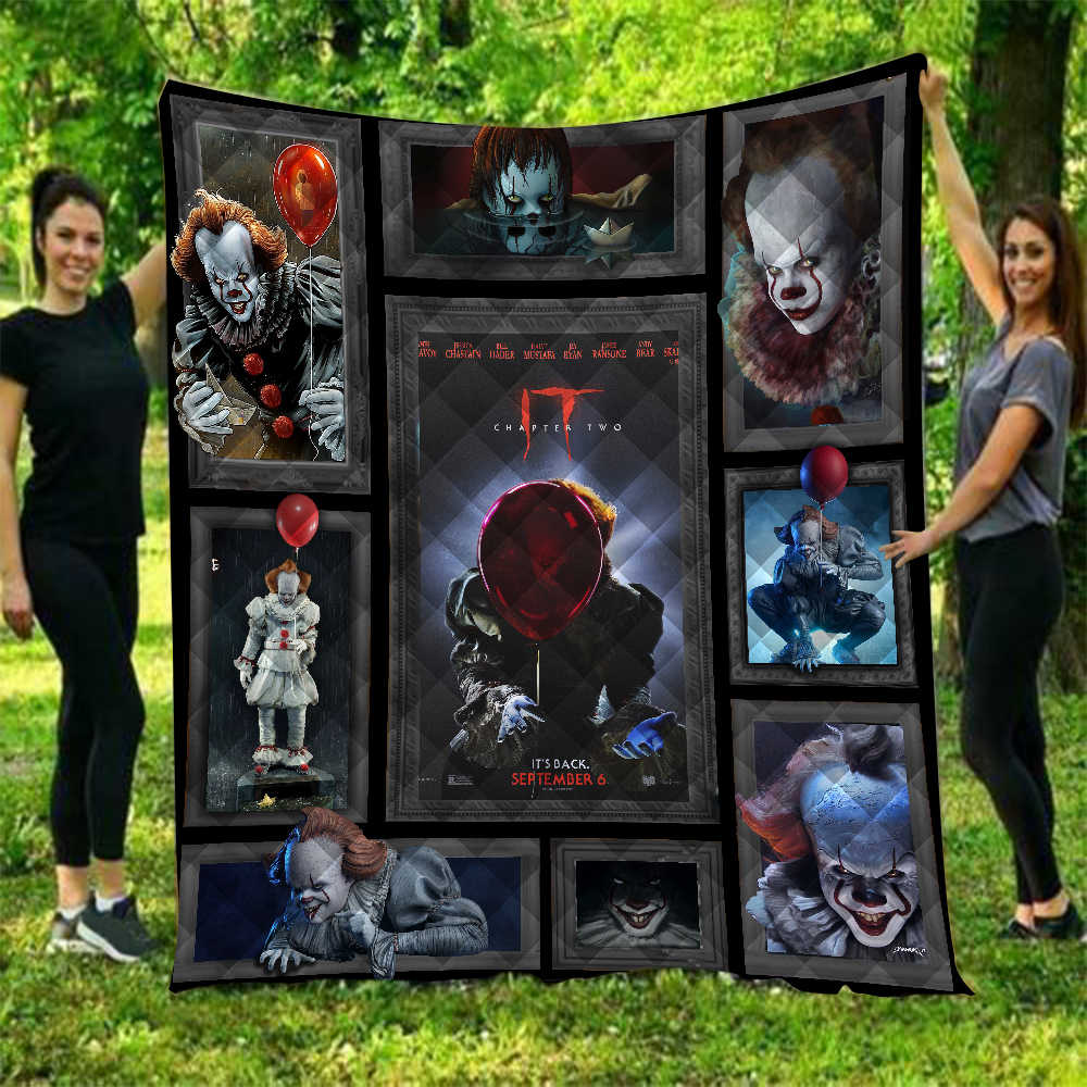 Dropshipping It: Chapter Two Pennywise Halloween Quilt For Kids School Adults Bed Soft Warm Thin Blanket Cotton Quilt King Size