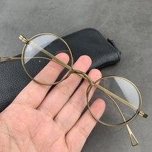 Новинка 2020 очки из чистого титана винтажные мужские круглые