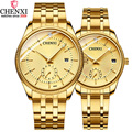 Роскошные женские и мужские часы для влюбленных Лидирующий бренд CHENXI водонепроницаемые наручные часы из нержавеющей стали Кварцевые повсе...