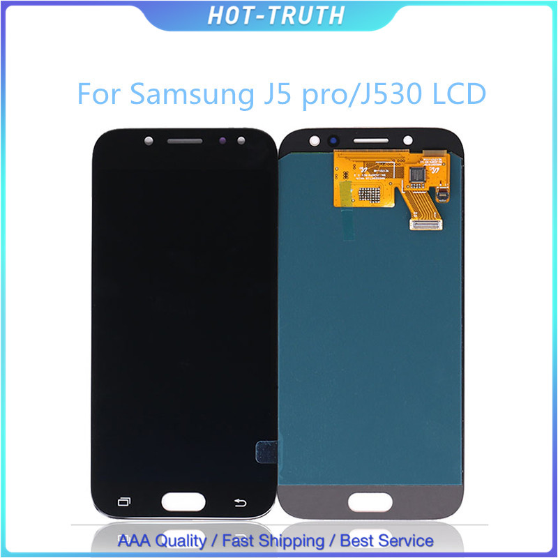 5Pcs/Lot Brightness Adjustable LCD Screen For <font><b>Samsung</b></font> <font><b>Galaxy</b></font> <font><b>J5</b></font> <font><b>2017</b></font> OEM <font><b>Display</b></font> <font><b>J5</b></font> Pro <font><b>2017</b></font> J530F J530Y Digitizer Touch Panel image
