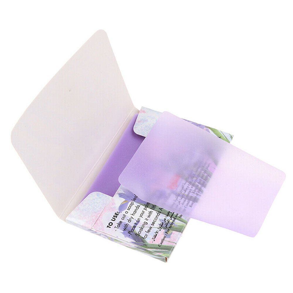 15Pcs Travel Foaming Wash Hand Soap Paper Portable Antibacterial Rich Foam Washing Soap Scented Slice Sheets Cleaning Supplies