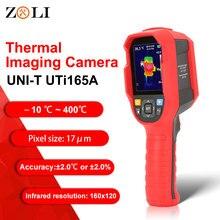 UNI T UTi165A HD Termocamera A Infrarossi Macchina Fotografica di Riscaldamento a Pavimento Rilevatore di Campo di Temperatura da 10 °C ~ 400 °C 2.8 pollici di schermo TFT