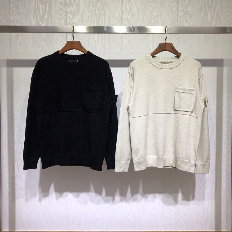 Best Version Ghost Collection Compass Logo Patched Women Men Sweater Pullover Men Casual Fashion Sweaters