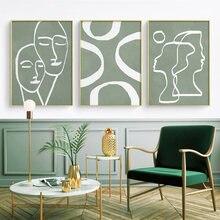 Абстрактные линии рисования картины Домашний Декор скандинавский