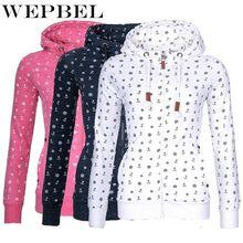 Свитшоты wepbel с принтом якоря женские модные теплые зимние