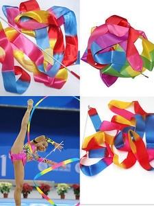 Rhythmic Gymnastics Ribbon Ballet-Streamer Twirling-Rod 4M