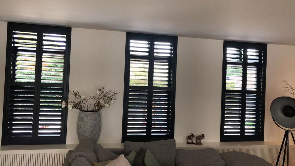 Custom Basswood Plantation Shutters  Wooden Blinds Solid Wood Shutter Louver PS223