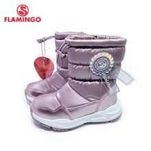 Shoes FLAMINGO 202D-F1-2066 Snow-Boots Girl Winter Children High-Quality Wool for Size-26-32