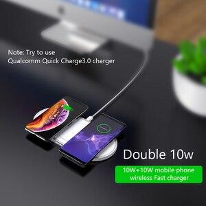 Image 2 - VVKing cargador inalámbrico para móvil, cargador inalámbrico Dual 2 en 1 de 10W para iPhone Xs, Max, X, Samsung S10, S9, S8, Xiaomi Mi 9