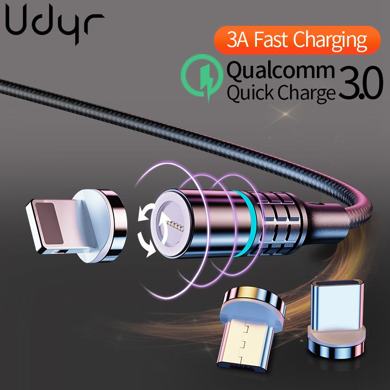 Udyr <font><b>3A</b></font> Magnetic Charger USB Type C <font><b>Cable</b></font> for iPhone <font><b>Cable</b></font> Charger Fast Charging Micro USB C <font><b>Cable</b></font> for xiaomi redmi note 7 pro image