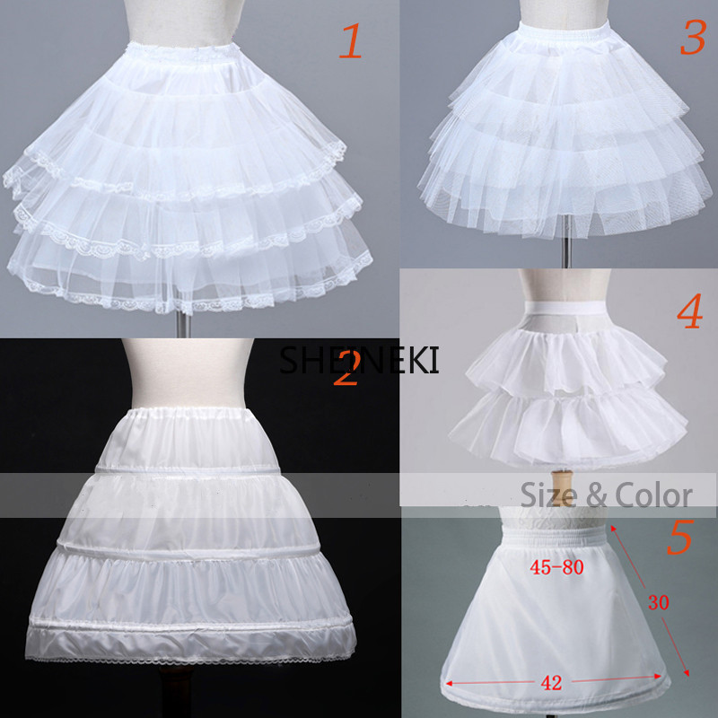 Flower Girls Underskirt Cosplay Party Short Dress Petticoat Lolita Petticoat Ballet Tutu Skirt Rockabilly Crinoline Puffy Skirt