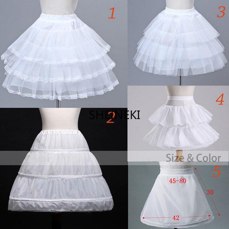 Flower Girls Underskirt Cosplay Party Short Dress Petticoat Lolita Petticoat Ballet Tutu Skirt Rockabilly Crinoline Puffy Skirt