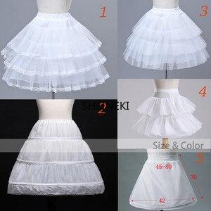 Flower Girls Underskirt Cosplay Party Short Dress Petticoat Lolita Petticoat Ballet Tutu Skirt Rockabilly Crinoline Puffy Skirt(China)