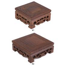 Чайные лотки, чай пуэр, тонкий маленький квадратный чайный горшок, база, ваза, украшение, твердая древесина, бонсай, пьедестал, деревянная база, Улун, чайный набор с подносом