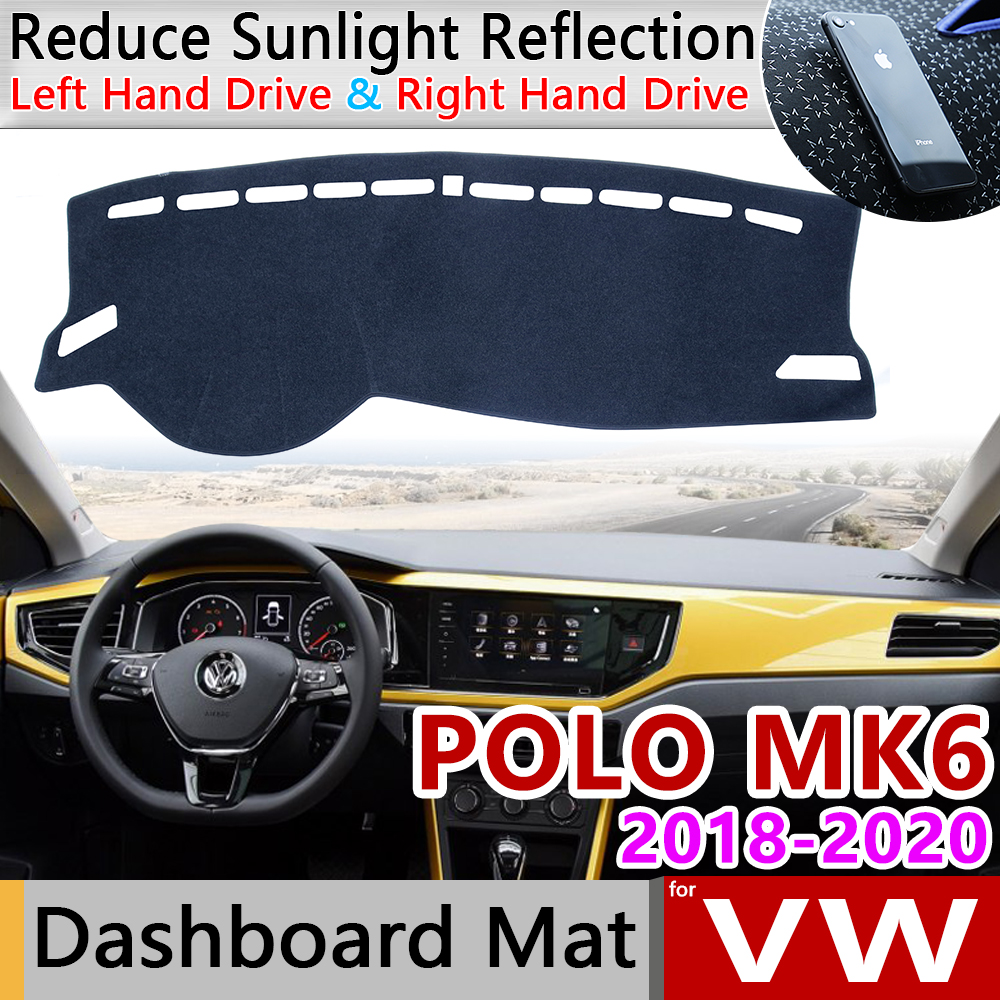For Volkswagen VW POLO MK6 2018 2019 2020 Anti-Slip Mat Dashboard Cover Pad SunShade Dashmat Protect Carpet Dash Car Accessories