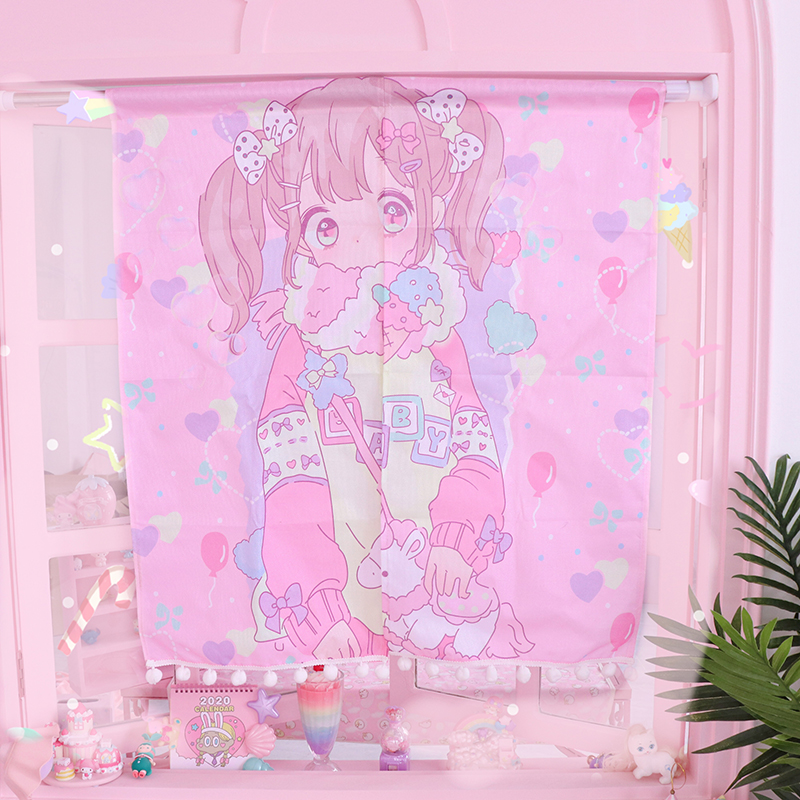 Lovely Cartoon Melody Wall Hanging Blanket Wall Carpet Kitchen Home Decoration Multifunction Mat