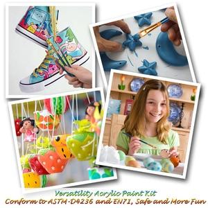 Image 4 - 24 renk 12ML akrilik boya seti zengin pigmentler tüp boyalar ahşap şövale boyama tuval sanat malzemeleri hediye çocuklar başlayanlar