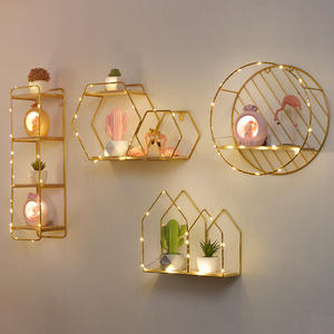 Ornaments Storage-Rack Wall-Shelf Living-Room-Stand Bedroom Wall-Mounted-Decoration Porch-Room