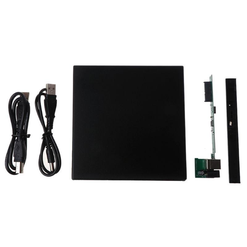 12.7MM USB 2.0 External DVD/CD-ROM Case For Notebook Computer Laptop Desktop PC Optical Disk Drive SATA To SATA External