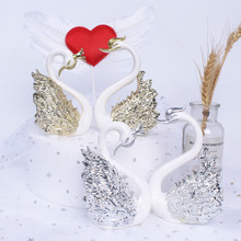10cm new swan action figure with gold/silver plated Swan model figure toy cake decoration gifts for girls