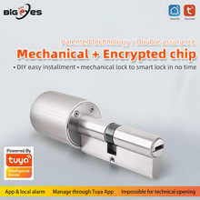 Door-Lock-Encryption Core-Cylinder Smart-Lock TUYA Anti-Theft Intelligent with Keys-Work
