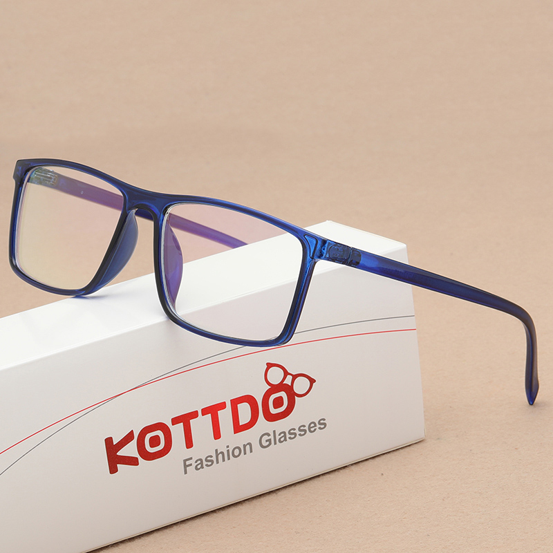 KOTTDO Vintage Square Mens Eyeglass Frame Prescription Women Glasses Frames Myopia Glasses Frame Eye Glasses Frames For Men