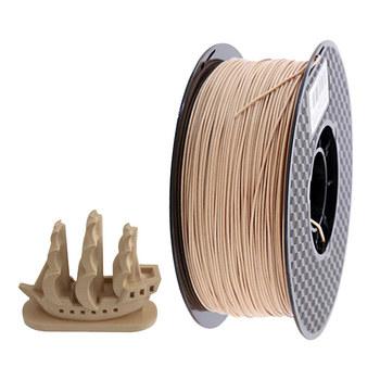 Drukarka 3d Filament drewno PLA 1 75mm jasny drewniany kolor materiał do drukowania 3d pla ciemne drewno 1kg próbka tanie i dobre opinie EasyThreed CN (pochodzenie) solid WOOD1KG