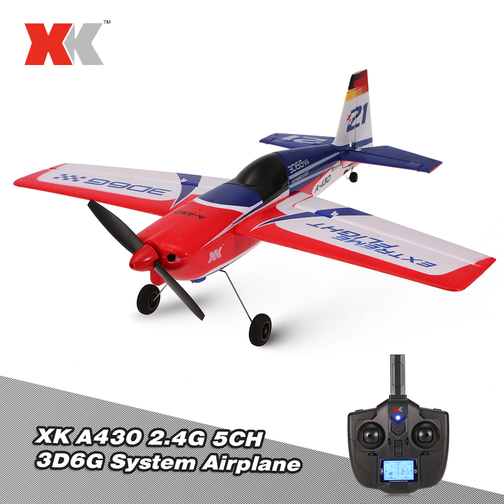 Wltoys XK A430 2.4G 5CH Brushless Motor 3D6G System RC Airplane 430mm Wingspan EPS Aircraft Compatible S FHSS RTF Airplane