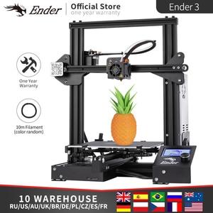 Image 2 - Hot Sale Ender 3 Kit 3D Printer Large Size Ender 3X Printers 3D Continuation Print Power Creality