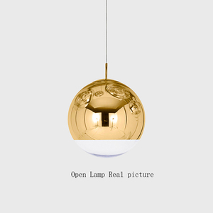 Image 5 - 현대 유리 led 펜 던 트 램프 바 계단 (하나 3 조명) 레스토랑 led 펜 던 트 조명 거실 램프 도금 구형