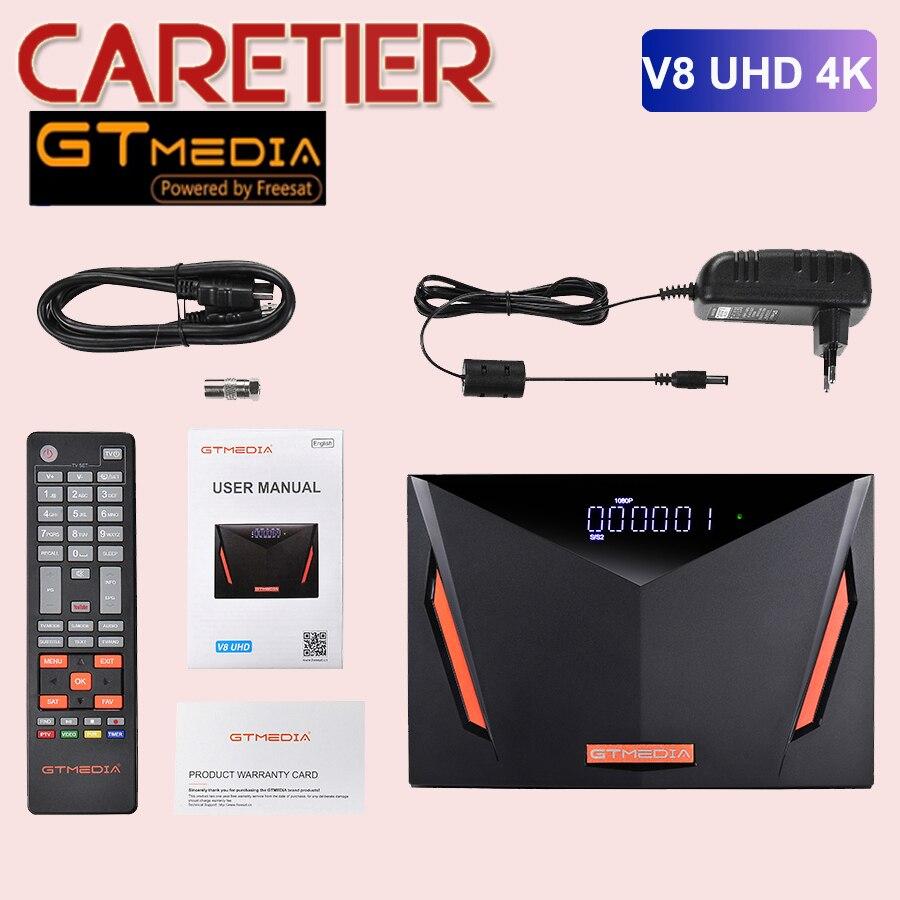 Оригинальный Gtmedia V8 UHD DVB-S2-цифра спутниковый телевизионный ресивер DVB-S/S2/S2X DVB + T/T2/ISDB-T/Кабель с ПВХ изоляцией (J83.A/C)/ATSC-C(J83.B)