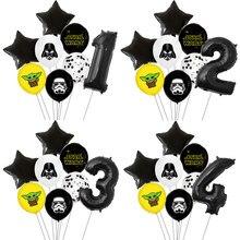 8 pçs/lote Decoração Balões da Festa de Aniversário de Star Wars Mestre Yoda de Star Wars Balão Crianças Brinquedos Globos Cumpleanos Infantiles