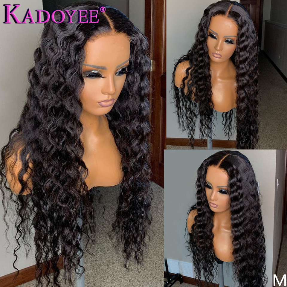 Loose Deep Wave Lace Front Human Hair Wigs Brazilian Remy Hair 13x4 Front Lace Wigs Bleached Knots Pre Plucked For Black Women