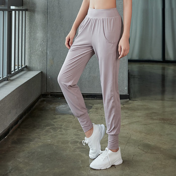 Women Yoga Pant Loose Elastic Quickly Dry Sweatpant Jogger Exercise Running Workout Casual Sport Pant Trousers Sportswear summer men yoga pant sweatpants linen printing wide leg loose bloomers baggy jogger exercise gym running casual pant sportswear