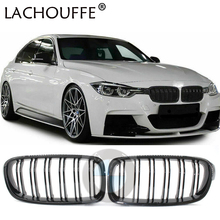 1Pair Gloss Black Car OEM Style Front Black Wide Kidney Bright Grille Grill for BMW F30 F31 F35 2012-2017 Car Styling 1 pair f30 car styling front grill style f31 kidney black replacement grille hood for bmw 3 series f30 f31 2012 2016 gloss black