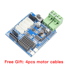 Moebius 4 Channel Motor Driver Board Compatible with Arduino for Smart Mecanum Wheel Robot Car Chassis 4 inch 100mm aluminum mecanum wheels set basic 2 left 2 right for robot car 14162