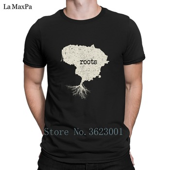 Carácter gracioso camiseta de los hombres de las raíces nativas de Lituania Vintage camiseta 2018 camiseta para hombres de marca camiseta para hombre 100% de algodón de regalo