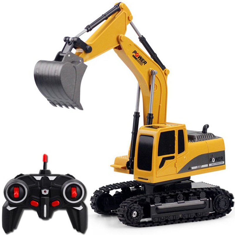 2.4Ghz 6Ch 1:24 Rc Excavator Mini Rc Truck Rechargeable Simulated Excavator Gift Toy For Kids