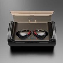 TWS T8 Bluetooth Kopfhörer 5,0 Wireless In-Ear Ohrhörer Tiefe Bass Stereo IPX7 Wasserdichte Sport Headset mit Lade Box