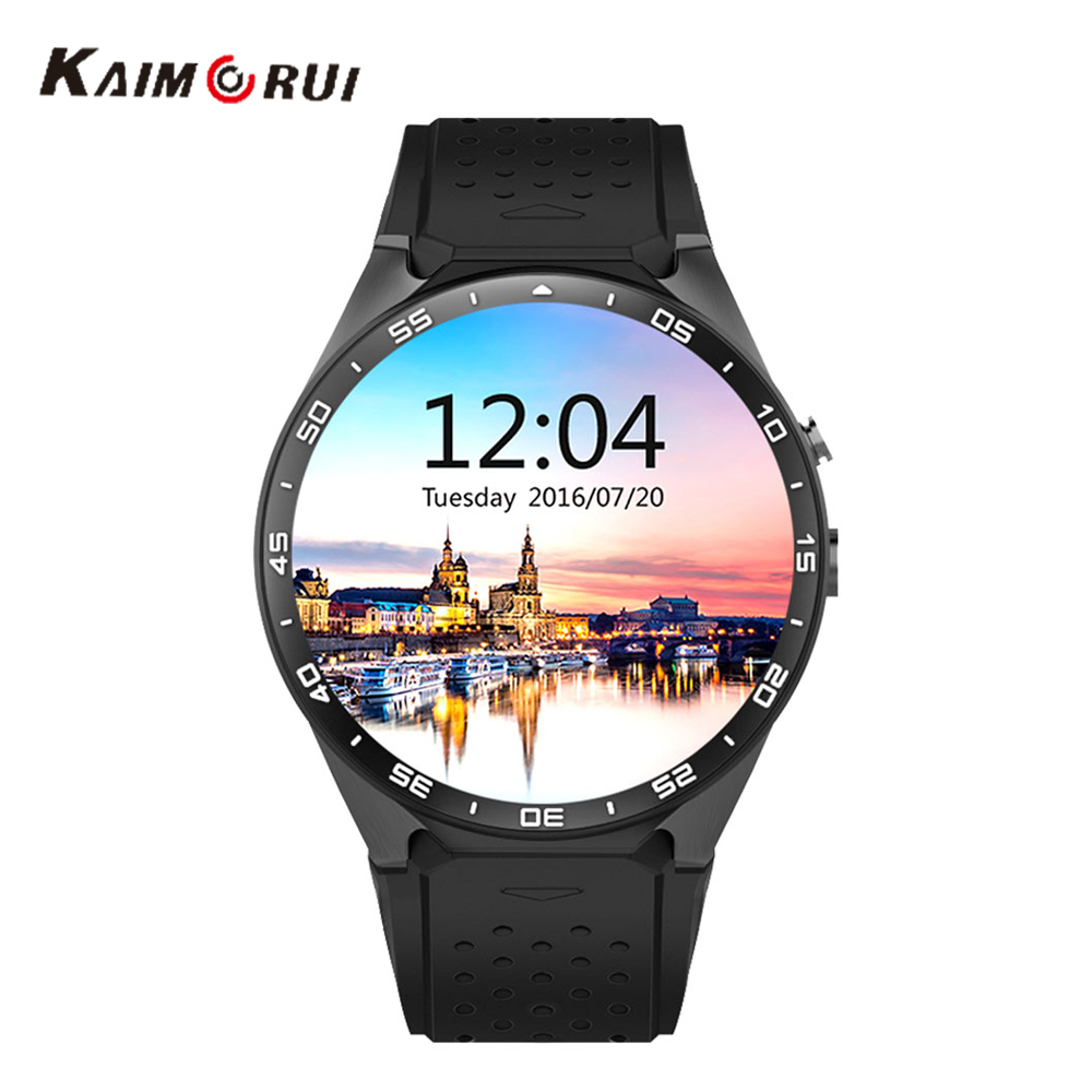Kaimorui <font><b>KW88</b></font> Smart <font><b>Watch</b></font> Android 5.0 Support TF SIM Card 3G <font><b>Watch</b></font> WIFI GPS Smartwatch Heart Rate Monitor <font><b>Band</b></font> For Android IOS image