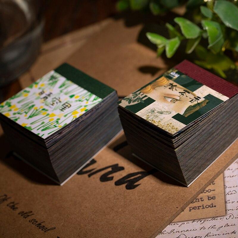 Винтажный блокнот plantillustraded Bullet Journal, прозрачная бумага, блокнот для записей, школьные канцелярские товары