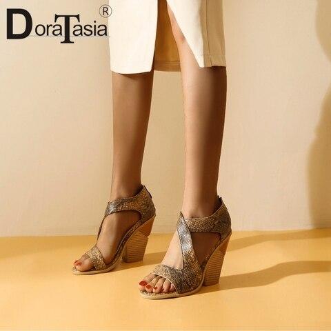 Doratasia/пикантные женские босоножки с круглым носком; Модные