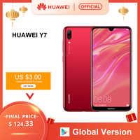 Globale Versione Huawei Y7 2019 Smartphone 3 Gb 32 Gb 4000 Mah 6.26 Pollici Viso Id Sblocco Dual Ai Della Macchina Fotografica snapdragon 450 Android Phone