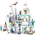 Модель волшебного Ледяного Замка Эльзы и Анны  строительные блоки  замок принцесс Золушки  совместимые с блочными друзьями